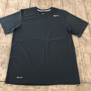 Nike Mens Medium Black Dri Fit Crewneck Shirt M